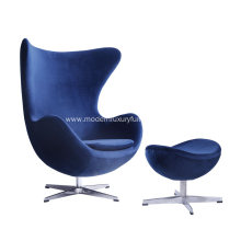 Classic Comfortable Living Room Velvet Egg Chair